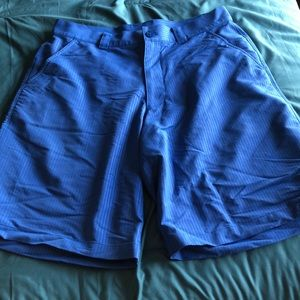 Under Armour blue striped shorts
